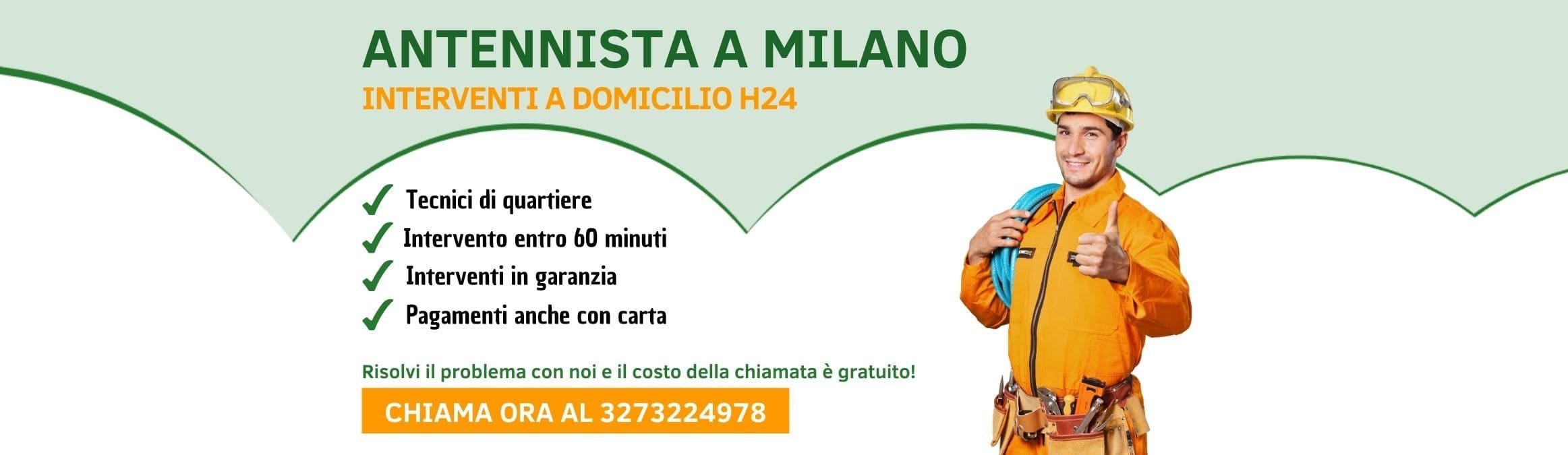 Antennista Milano Pronto Intervento